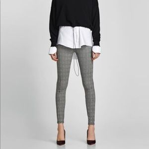ZARA - Gray Check Leggings